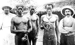 Hands as trophies during Leopold's massacre of Congo Republic