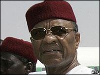 President Tandja {BBC; AFP}