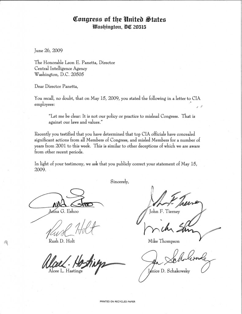 Letter to Panetta {WashingtonIndependent}