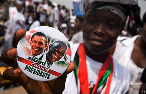 Obama to Ghana {Img: BBC}