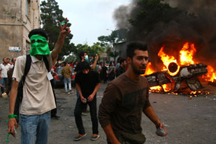 Iran violent demonstrations {Aljazeera}