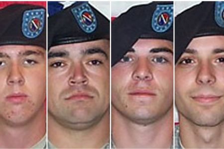 ndrew Holmes, Michael Wagnon, Jeremy Morlock and Adam Winfield are four of the five Stryker soldiers who face murder charges. Photograph: Public Domain