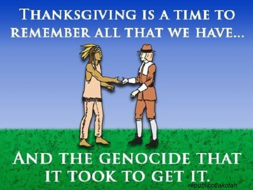 thanksgiving genocide