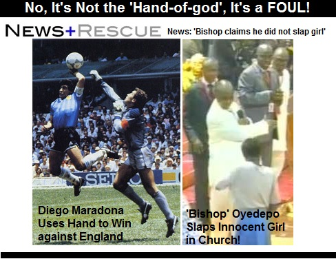bishop oyedepo claims hand of god