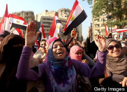 Female Egyptian supporters of new presid