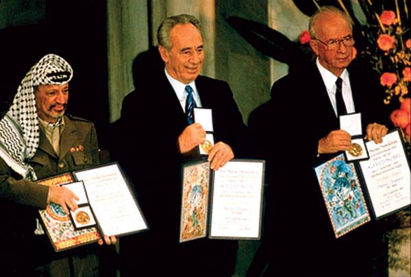 nobel peace prize yasser arafat