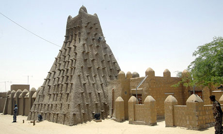 A mosque in Timbuktu.