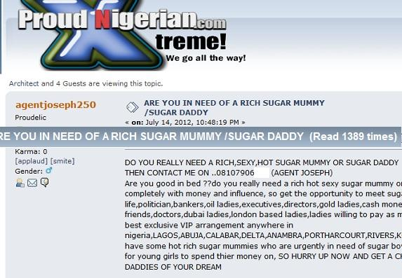 Need a Rich, Sexy Hot, Sugar Mummy or Sugar Daddy? Agent Joseph Will
