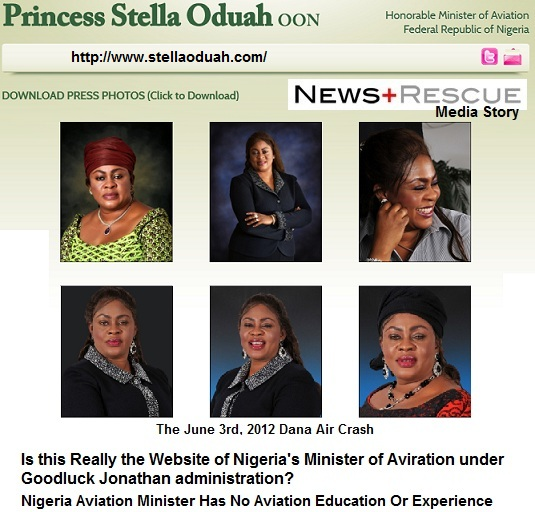 nigeria aviation minister stella oduah website