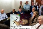 This picture the white house has claimed was the viewing of the killing of Osama was later admitted to be a hoax and these people watching sports.