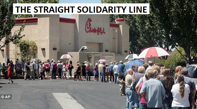 straight solidarity line