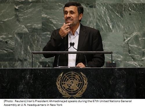 ahmadinejad UN 2012