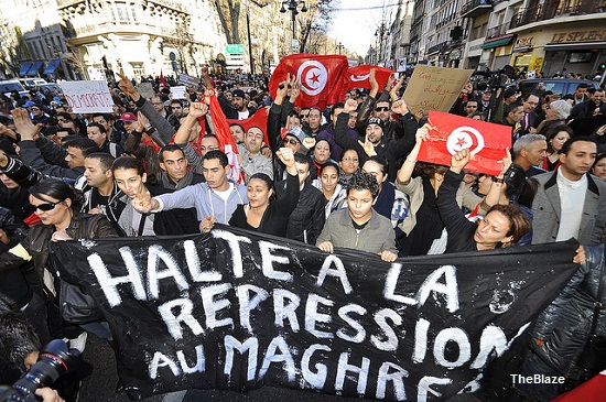 Tunisia-Protests-blaze