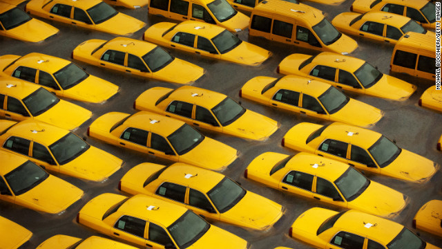 Cabs in New Jersey in the wake of Sandy
