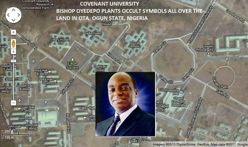 Oyedepos Covenant Uni Google Maps Illuminati Occult Symbols Any