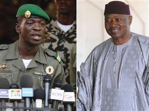 Coup leader Cpt Amadou Haya Sanogo (L) overthrew President Amadou Toumani Toure