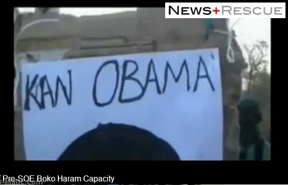 "US president Obama ""head"" was Boko target practice."