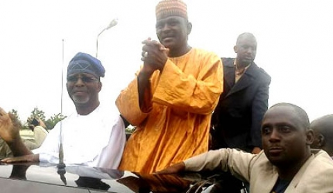 Dr Frederick Fasheun (OPC) with Al Mustapha
