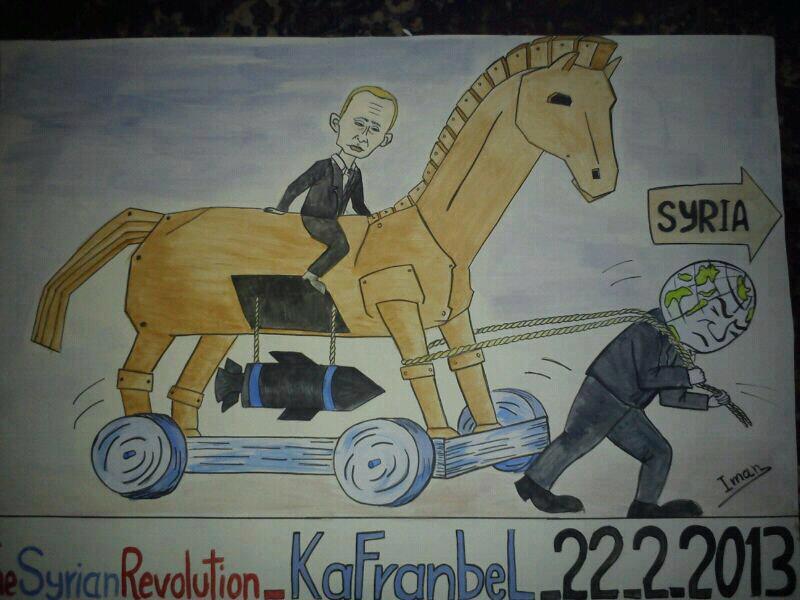 Innovative cartoons from Syria's Kafranbel