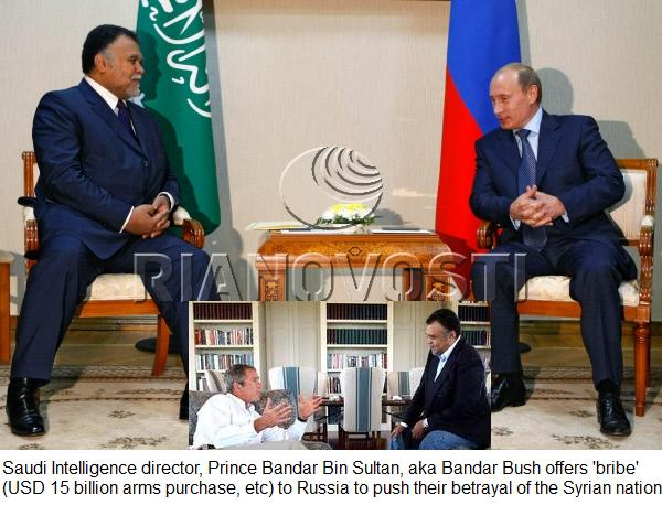 Vladimir Putin meets with Bandar Al-Saud, secretary-general of Saudi Arabia's National Security Council, in Astrakhan