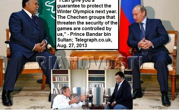 Vladimir Putin meets with Bandar Al-Saud, secretary-general of Saudi Arabia's National Security Council, in Astrakhan