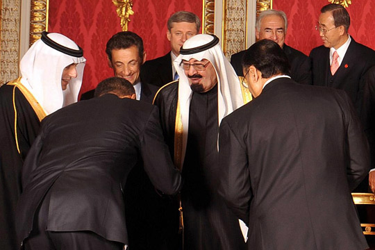 Obama bows for king of Sausi