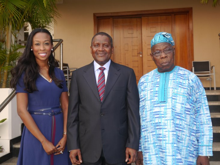 Dangote and Obasanjo: Image from Obasanjo Foundation