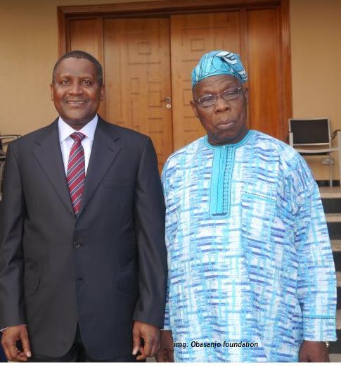 Dangote And former president Obasanjo
