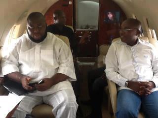 Asari ferried in Presidential jet