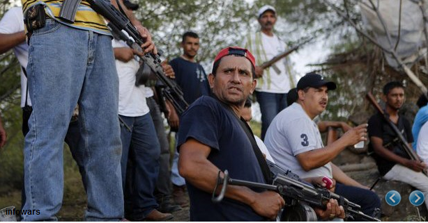mexican civilian jtf militia take over another town from drug cartel. Black Bedroom Furniture Sets. Home Design Ideas