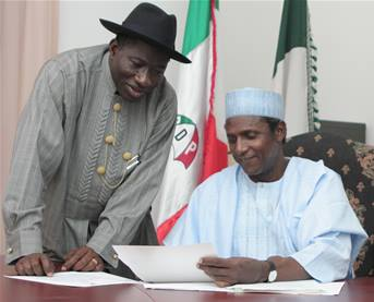Jonathan and late Yar'Adua