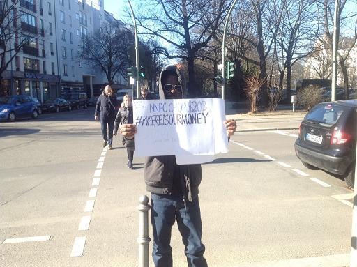 Omojuwa Berlin protest
