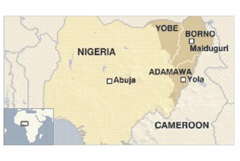 boko borno map