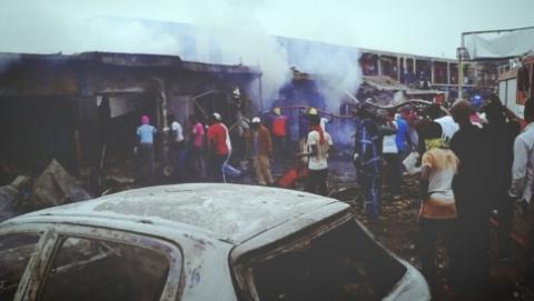 Jos terminus explosion smoke ball - Sahara