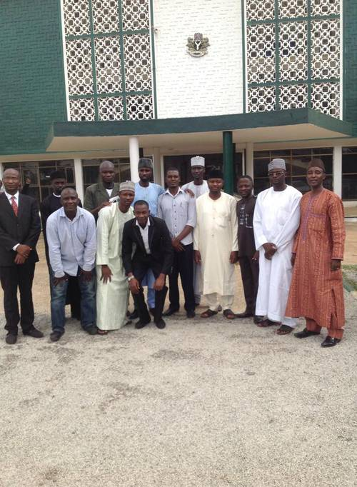 The Concerned Arewa Citizens after submitting the proposed Bill at Kaduna State House of Assembly