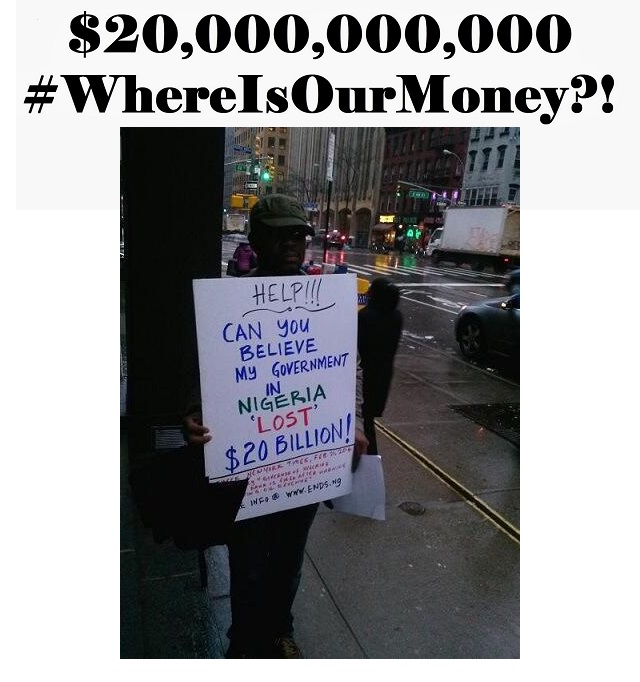 Where Is Our Money Black and White Text Banner LARGE