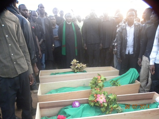 Zakzaky buries his fist set of three sons killed by Nigerian government