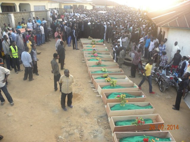 Thousands attend burial of murdered Islamic movement members on July 26th in Kaduna
