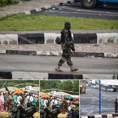 Masked military men stormed Osun