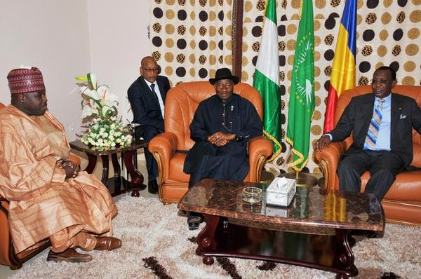 The janjaweed connection: Idris deby of Chad with Nigeria's President and ex-Governor of Borno, Ali Modu Sheriff