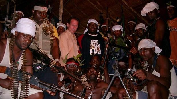 Stephen Davis with MEND terrorists including Asari-Dokubo in 2004