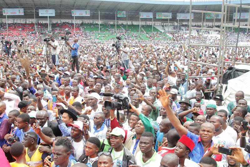 RS APC MEGA RALLY AS THE CROWD ASSURES THAT PDP WILL BE PUNISHED BY 2015
