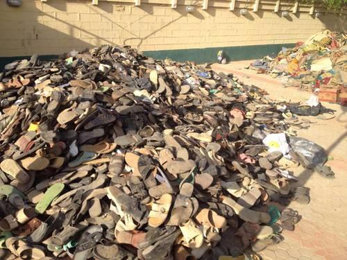heap of children shoes