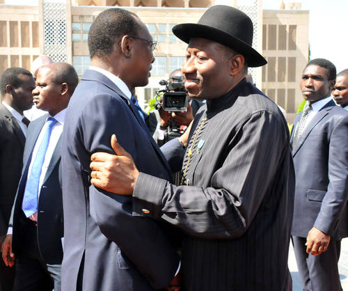 President Jonathan and Idriss Deby, linked to Boko Haram