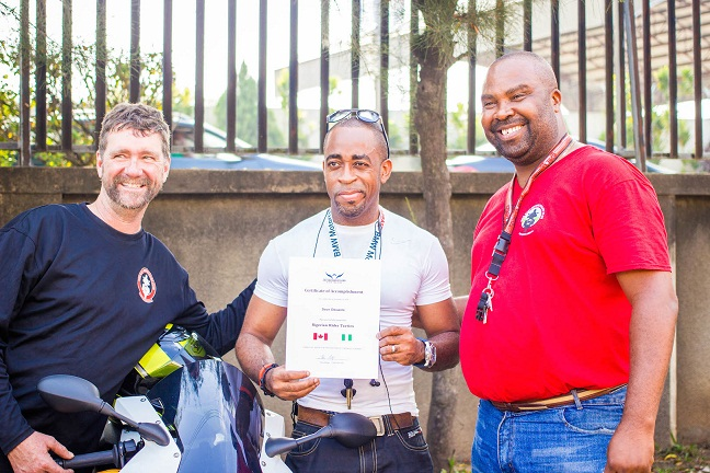 Seun gets his certificate copy