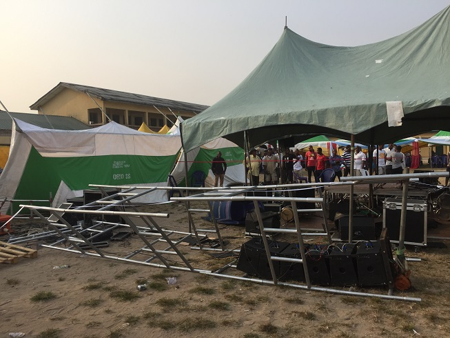 Destroyed items at the planned rally ground [8]