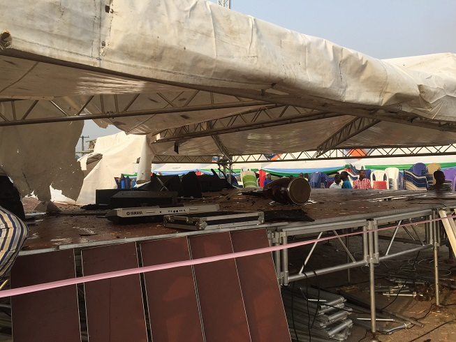Destroyed items at the planned rally ground [9]