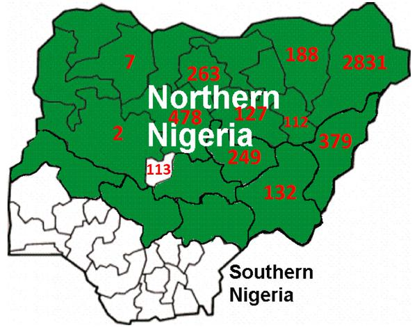Boko Haram has never attacked the nation's south