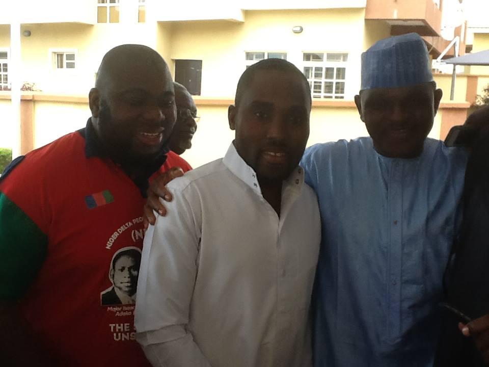 Niger delta terrorist, Asari-Dokubo with Northern sniper killer terrorist Al-Mustapha on far right and other unscrupulous elements