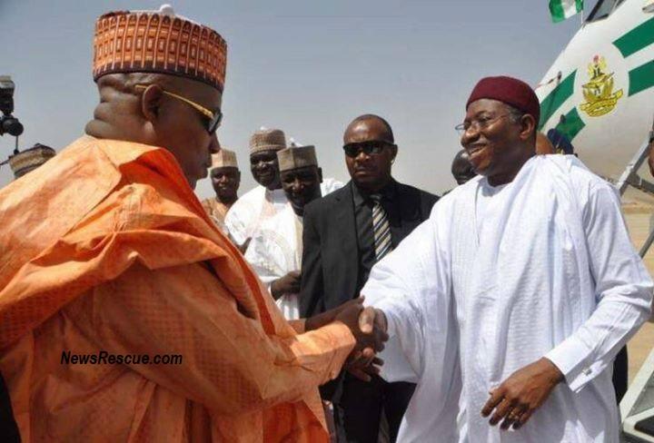 Goodluck in 2013 visit to Borno